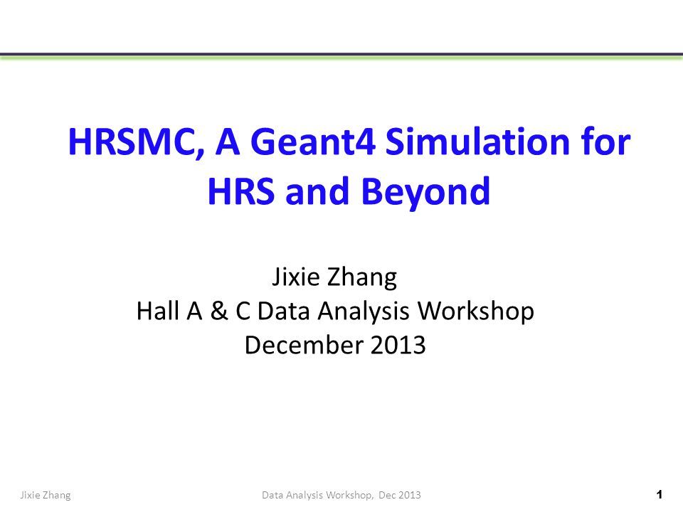 Resolution of HRSMC Using SNAKE Model 484816+shim, Stop at Target Plane,5T Jixie ZhangData Analysis Workshop, Dec 2013 32 Raster=2.4cm, BPM resolution: 1 mm in vertical, 5.0 T target field Reconstructed to the target center