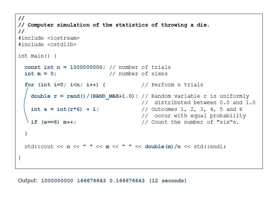 Distribution of Outcomes Rearranging the frequency definition of probability, we can write: i.e.