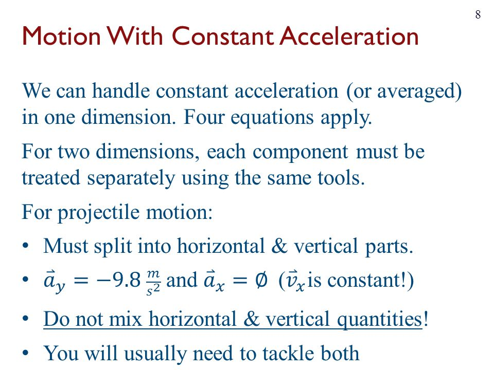 Motion With Constant Acceleration 8