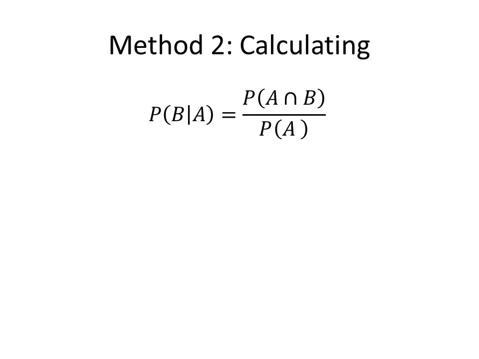 Method 2: Calculating