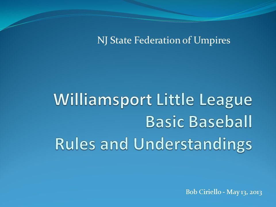 NJ State Federation of Umpires Bob Ciriello - May 13, 2013