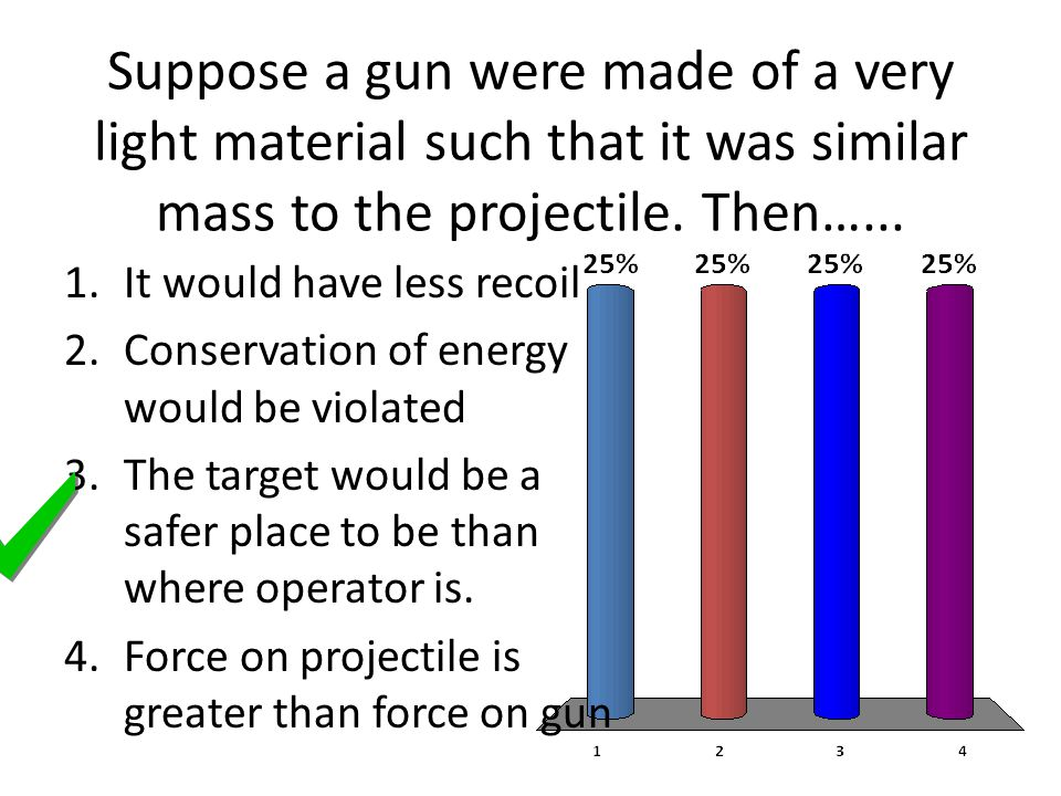 Suppose a gun were made of a very light material such that it was similar mass to the projectile.