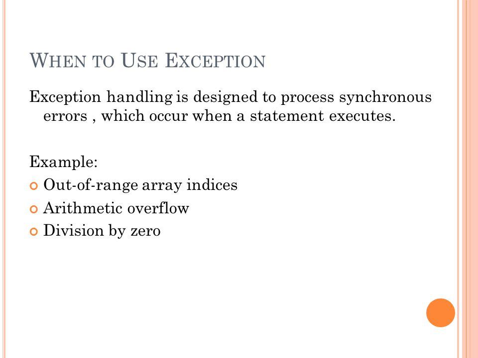 E XCEPTION CATCHER : Output: