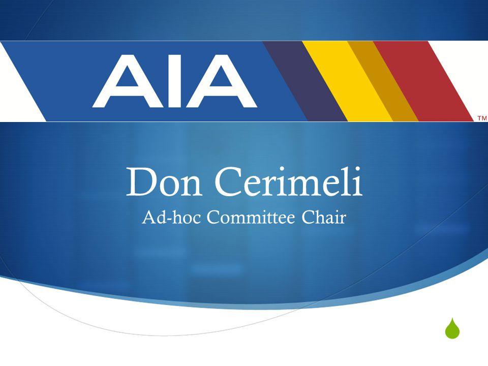  Don Cerimeli Ad-hoc Committee Chair