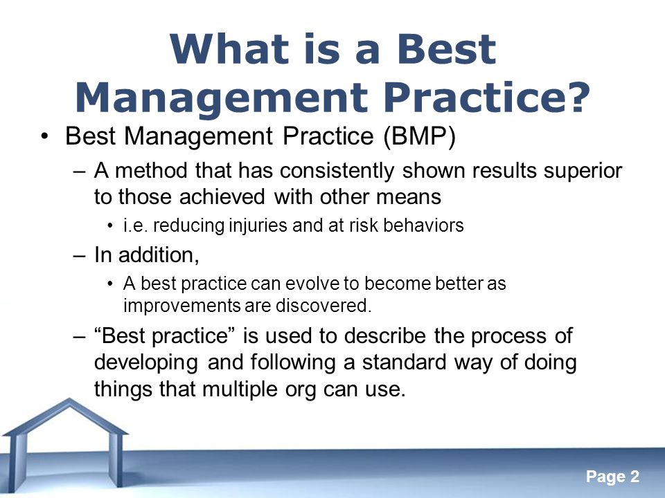 Free Powerpoint Templates Page 2 What is a Best Management Practice.