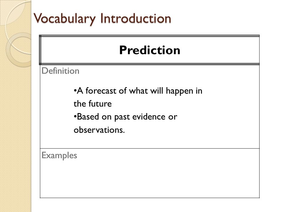 Vocabulary Introduction Prediction