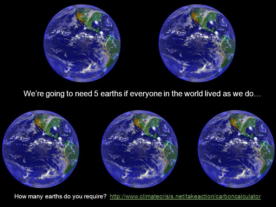 How many earths do you require.