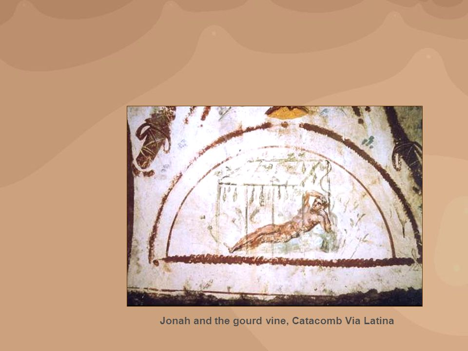 Jonah and the gourd vine, Catacomb Via Latina