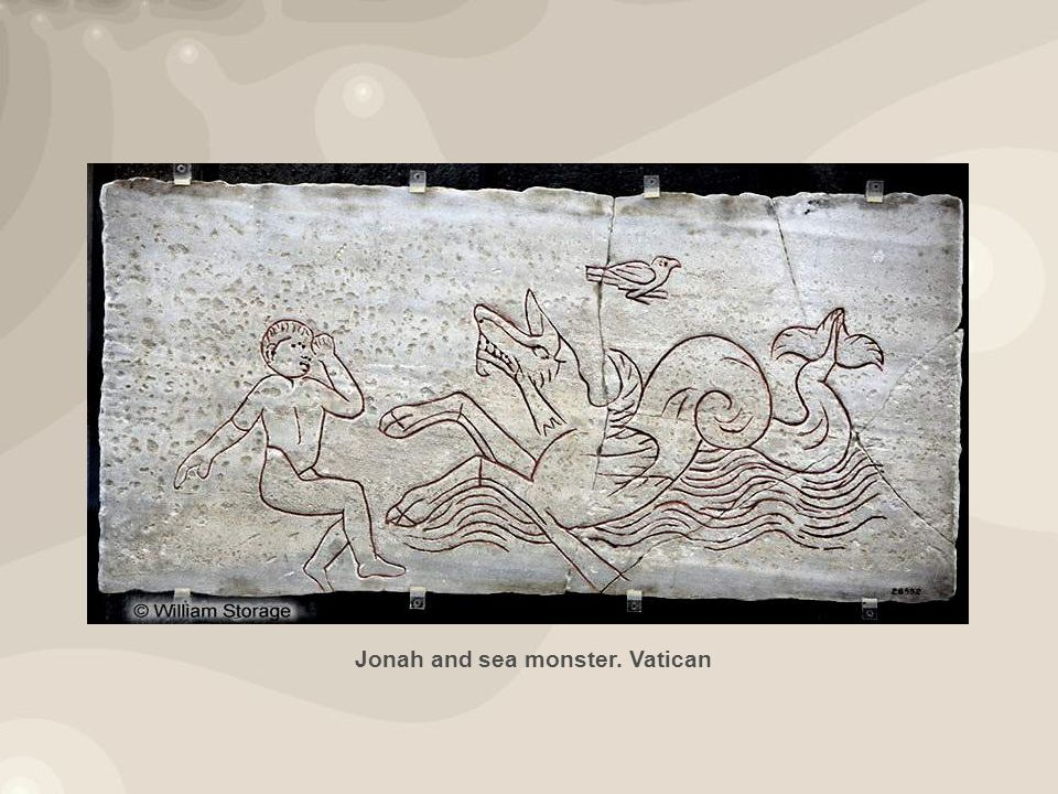 Jonah and sea monster. Vatican