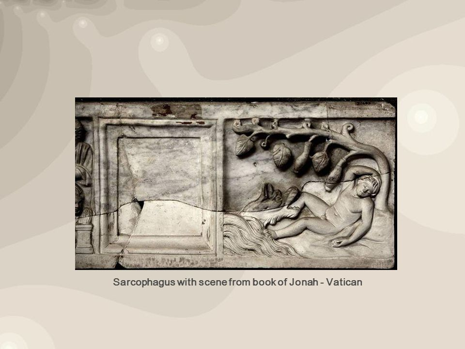 Sarcophagus with scene from book of Jonah - Vatican