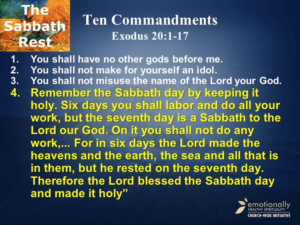 Ten Commandments Exodus 20:1-17 1.You shall have no other gods before me.