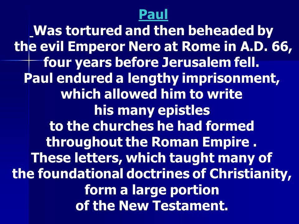 Paul See Next Slide.