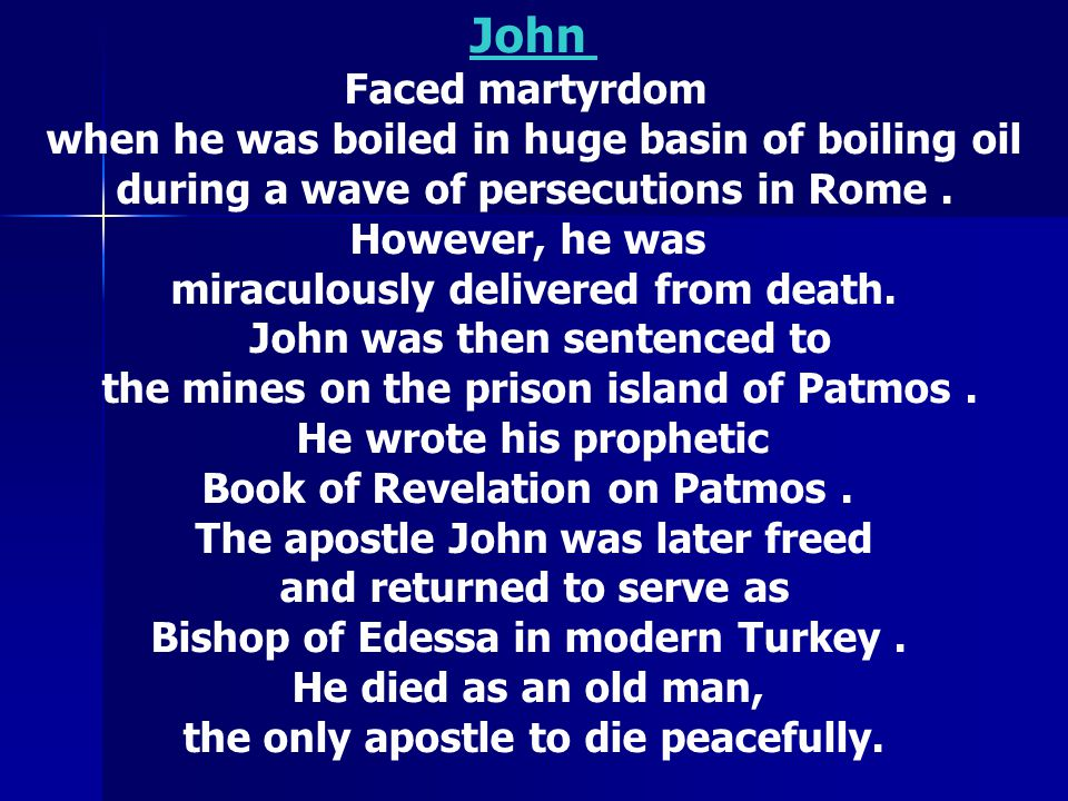 John See next slide