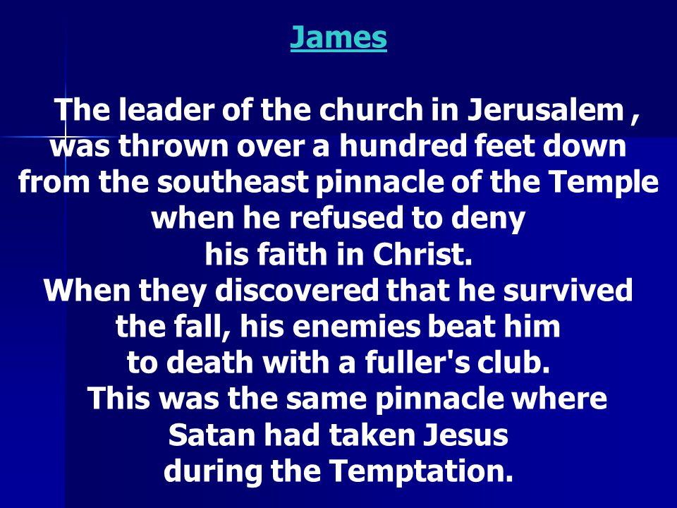 James The Elder See next slide