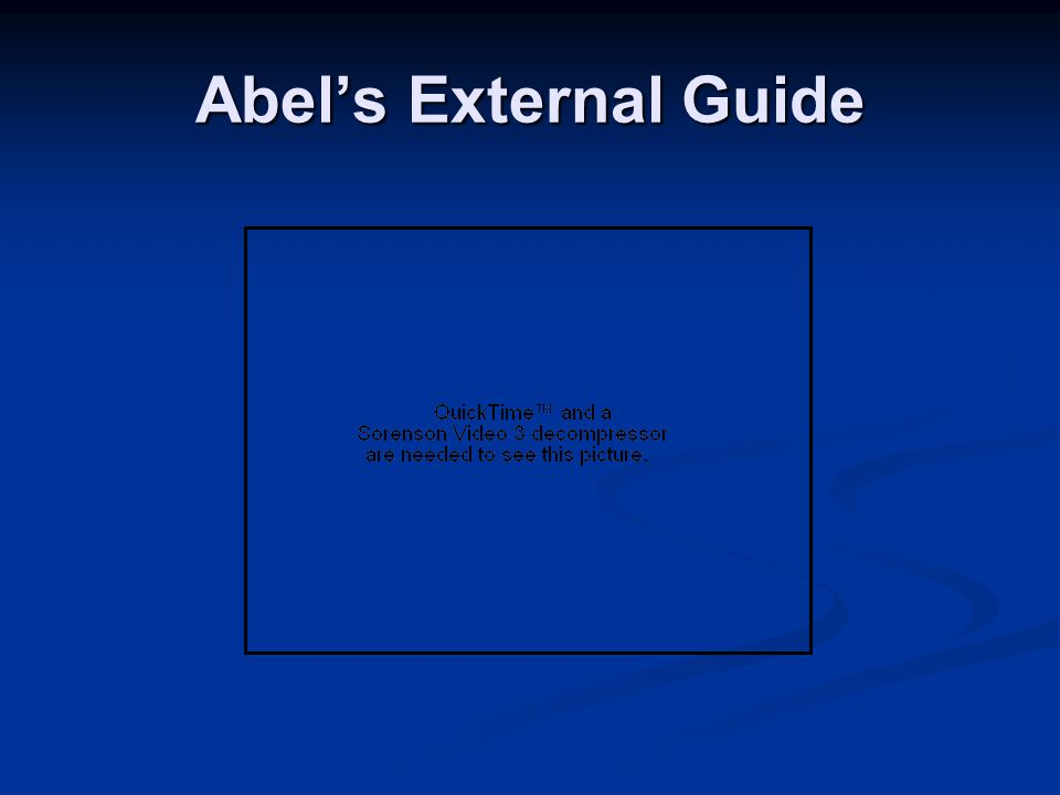 Abel's External Guide