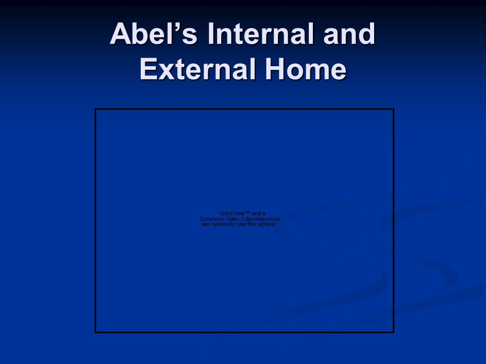 Abel's Internal and External Home