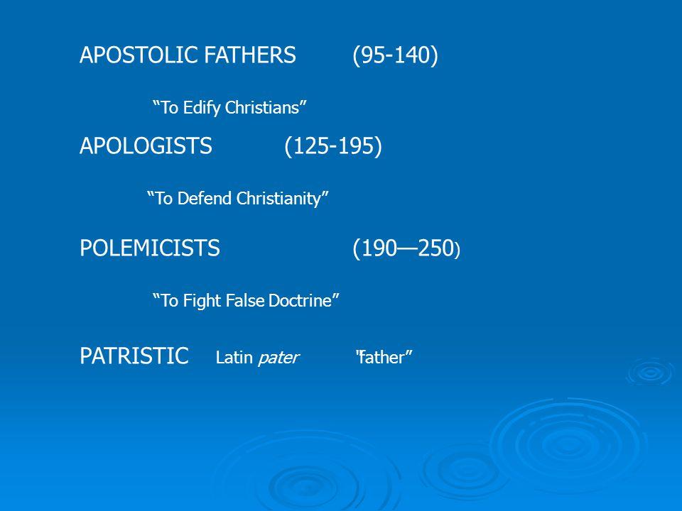 Writings of the Apostolic Fathers
