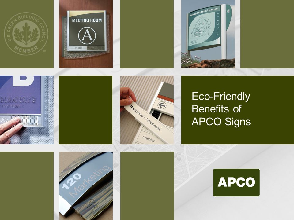 Eco-Friendly Benefits of APCO Signs