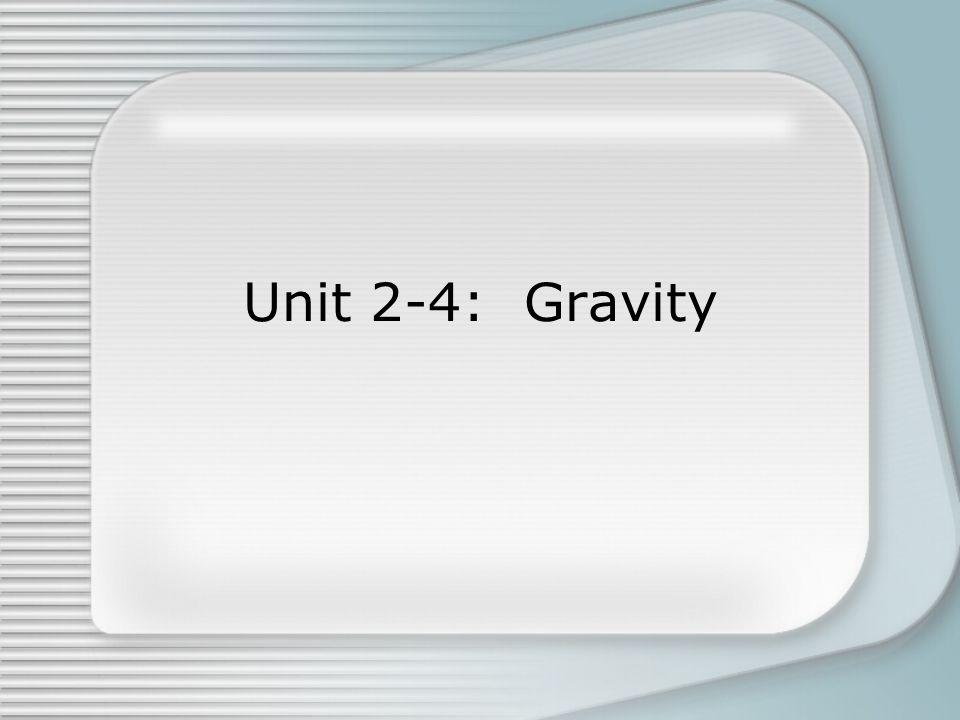 Unit 2-4: Gravity