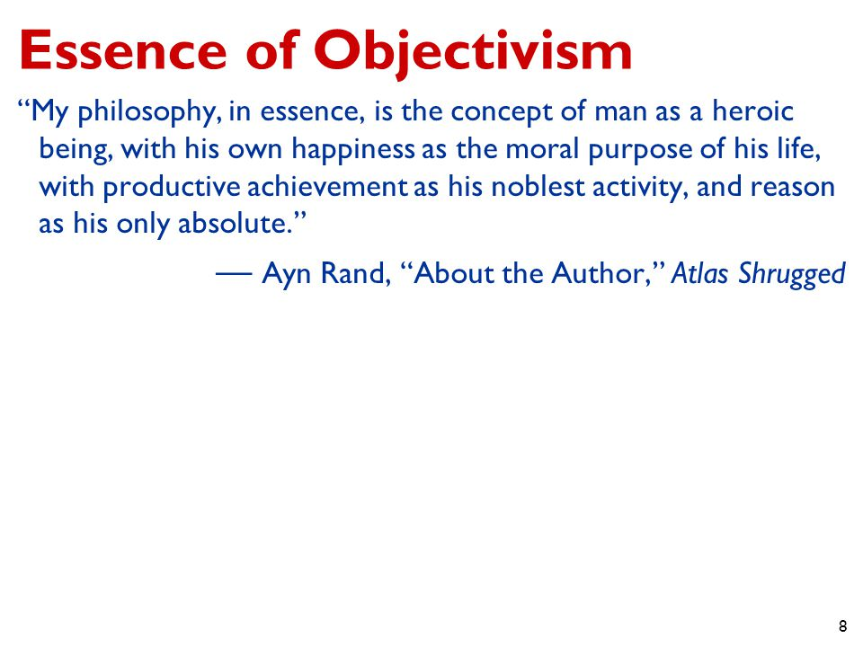 9 Philosophy in New York Friendship and collaboration with Nathaniel Branden Late night discussions of The Collective Nathaniel Branden Institute Writing and lecturing on philosophy The Objectivist Newsletter and The Objectivist