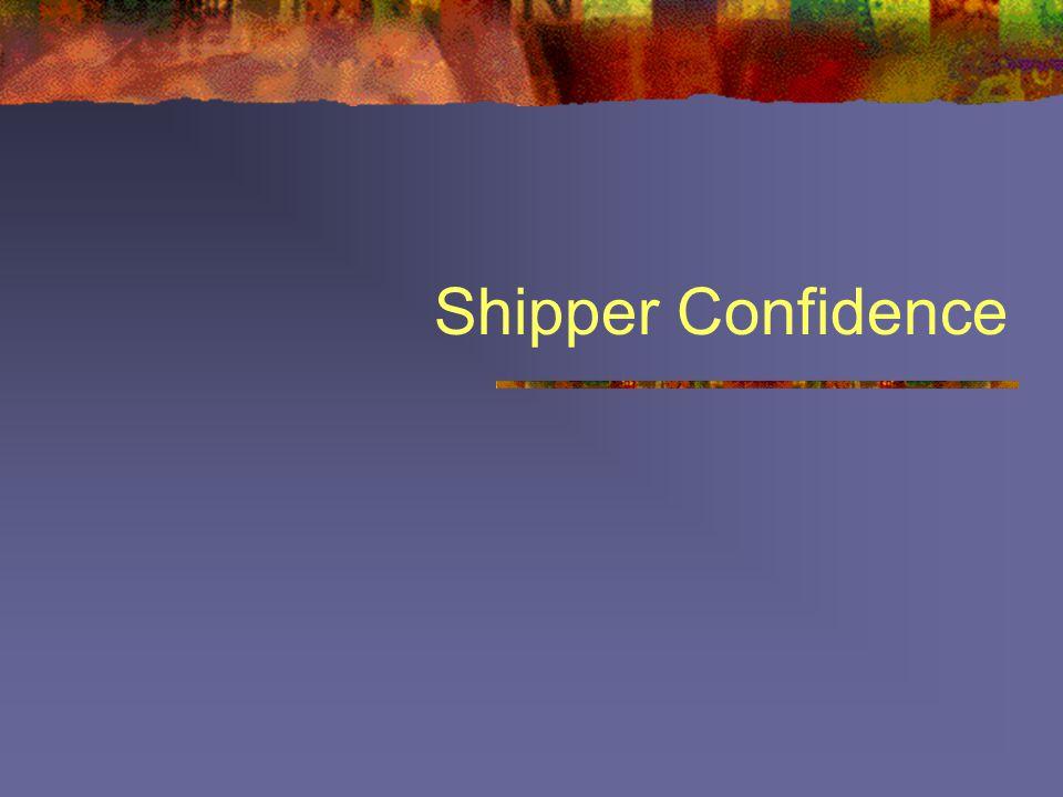 Shipper Confidence