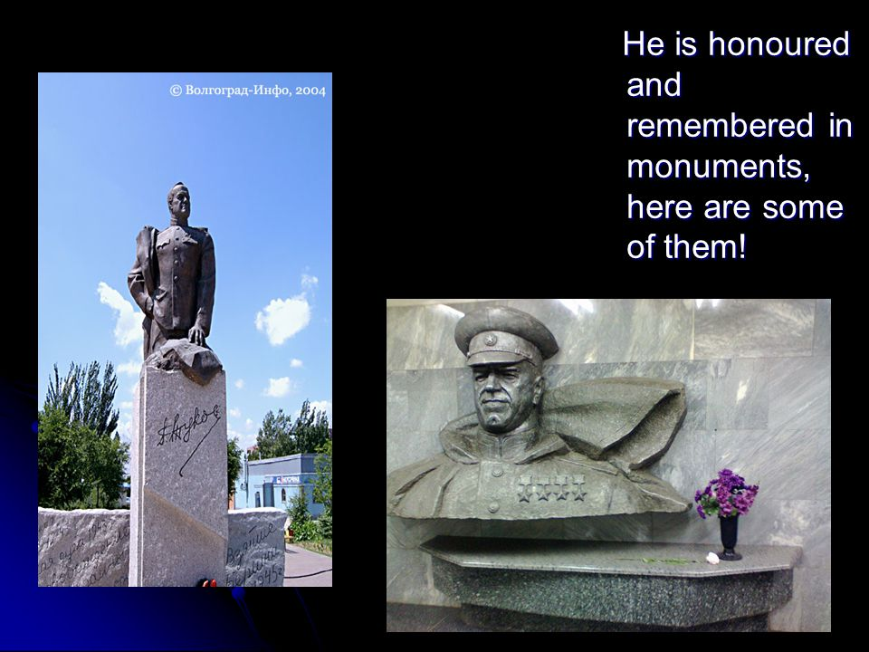 He is honoured and remembered in monuments, here are some of them.