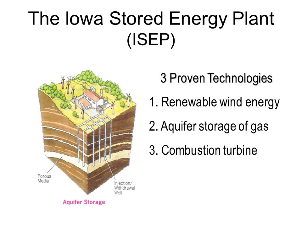 The Iowa Stored Energy Plant (ISEP) 3 Proven Technologies 1.