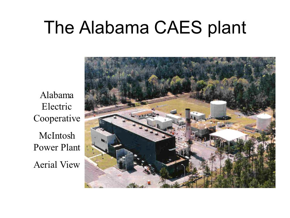 The Alabama CAES plant Alabama Electric Cooperative McIntosh Power Plant Aerial View