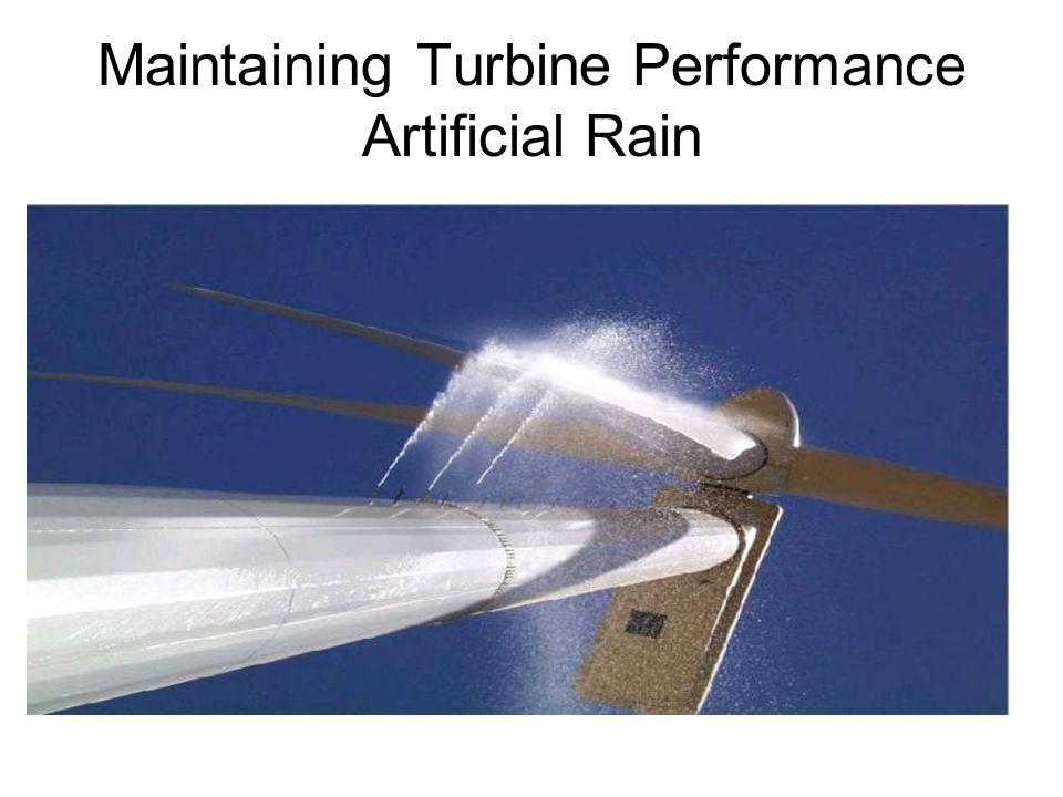 Maintaining Turbine Performance Artificial Rain
