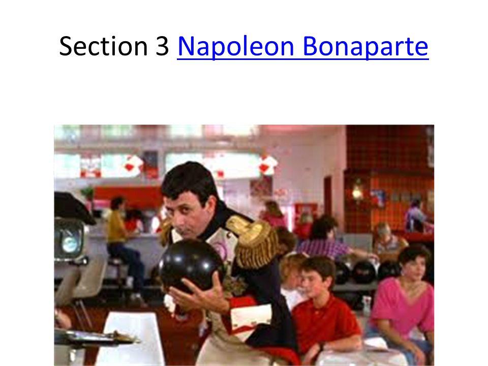 Section 3 Napoleon BonaparteNapoleon Bonaparte