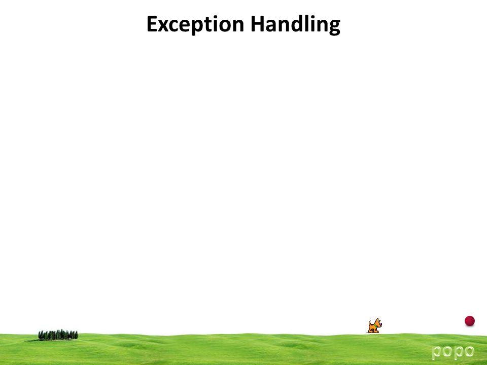 14 Exception Handling