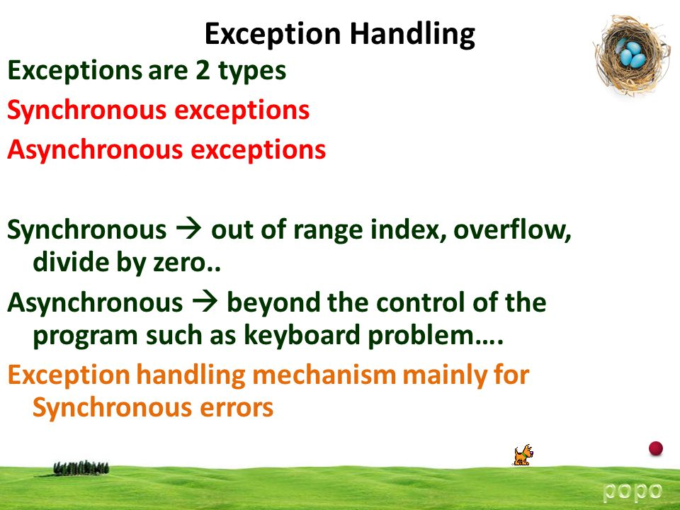 15 Exception Handling Using Multiple catch Statements As stated, you can have more than one catch associated with a try.