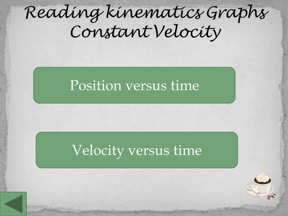 Position versus time Speeding Up Both of these graphs show objects that are speeding up.