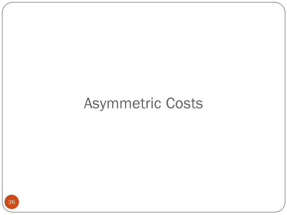 Asymmetric Costs 26
