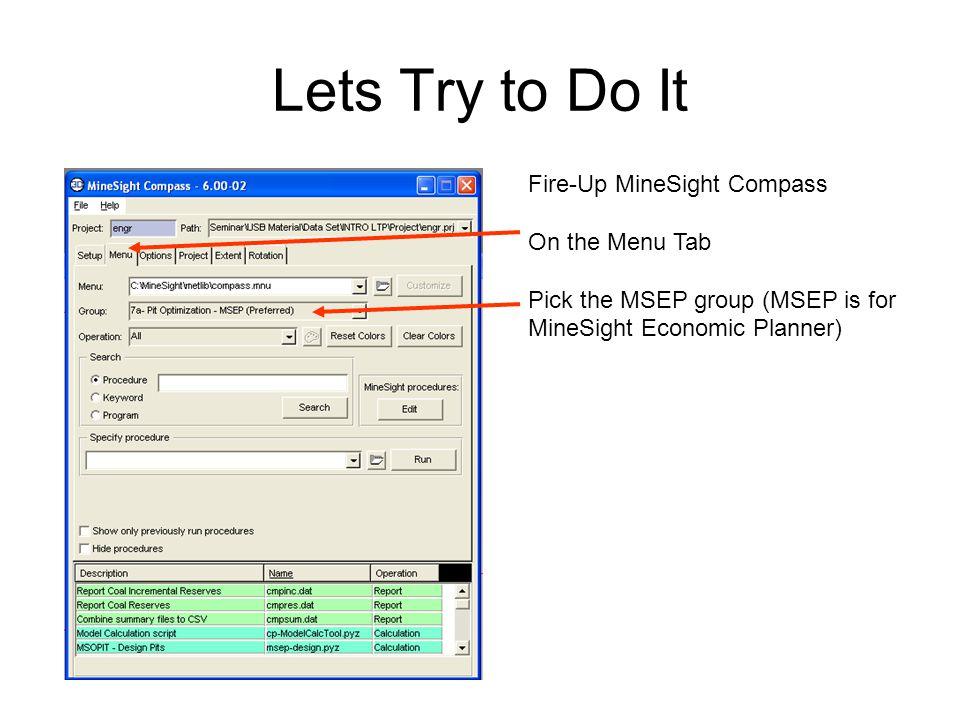 Scroll Through the Program List and Pick VALP