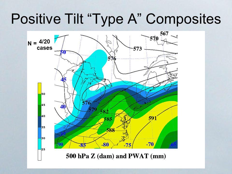 Positive Tilt Type A Composites N = 4/20 cases