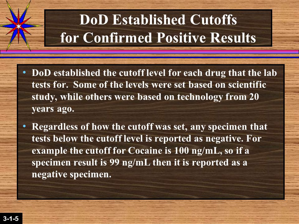 2-1-2 3-1-5  The nanogram (ng/mL) levels are reported to the IBTC or ADCO when the results are reported by the laboratory.