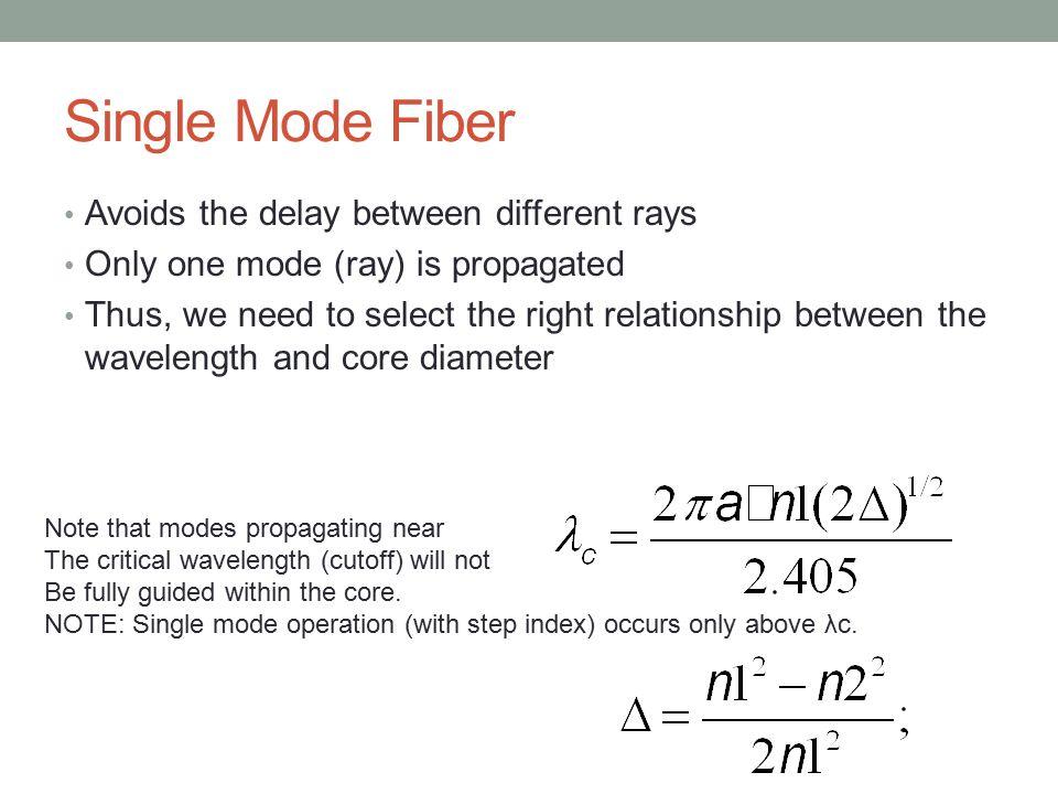Example Assume for Silica ϒ R = 1.895/(λ^4); and we are operating at wavelength 0.63um.