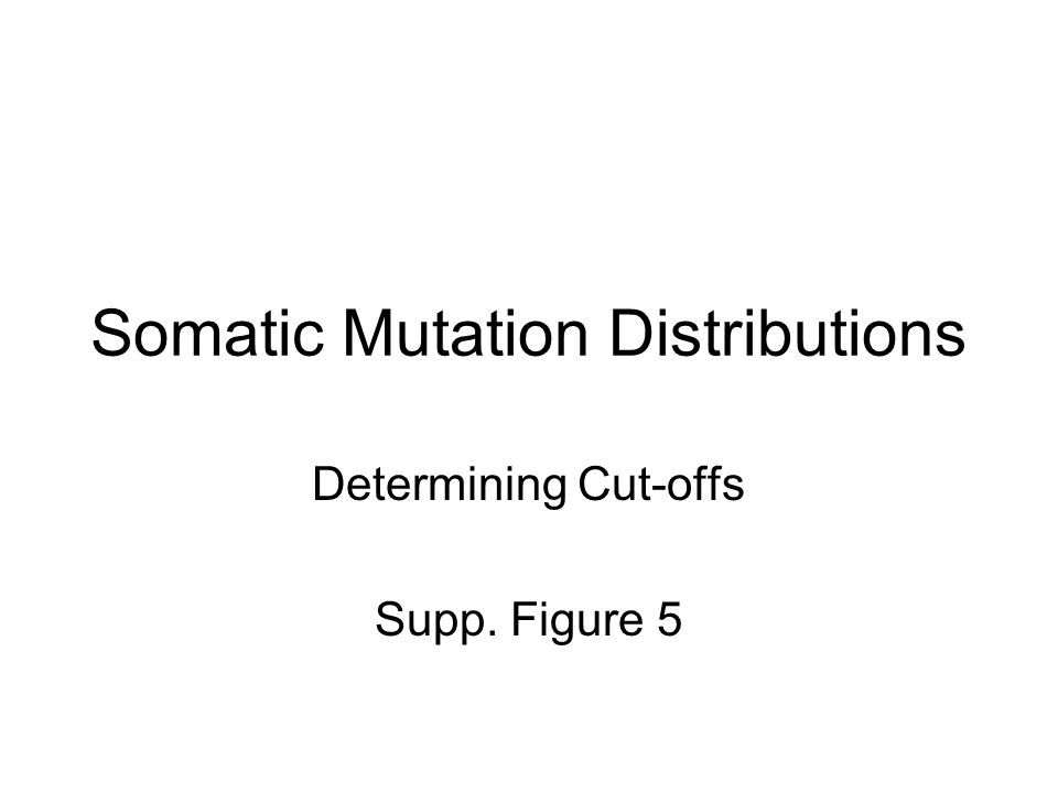 Somatic Mutation Distributions Determining Cut-offs Supp. Figure 5