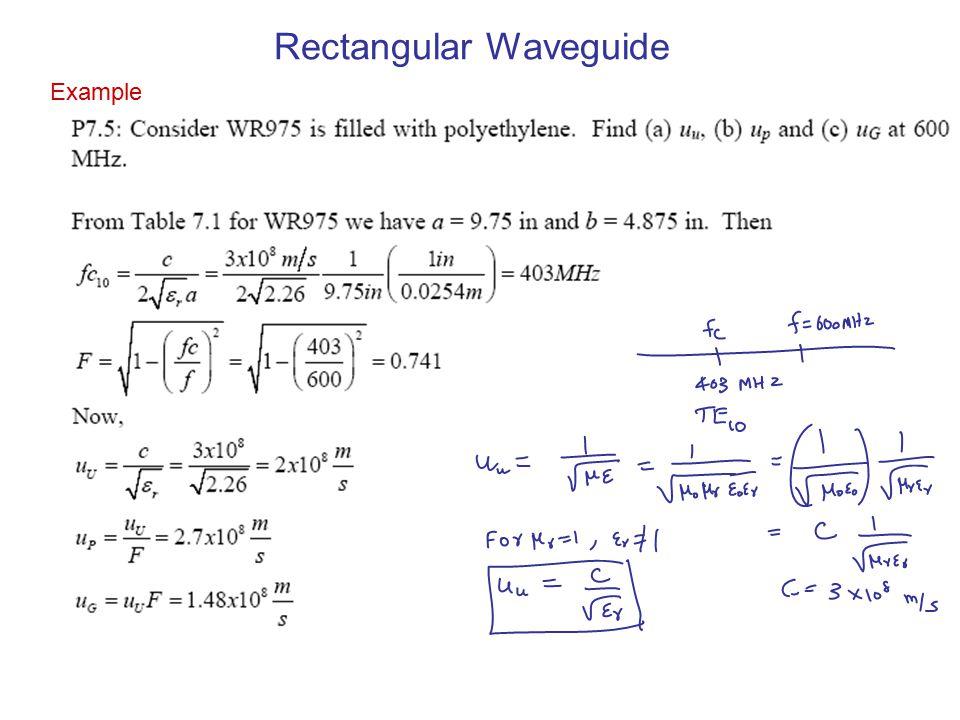 Example Rectangular Waveguide