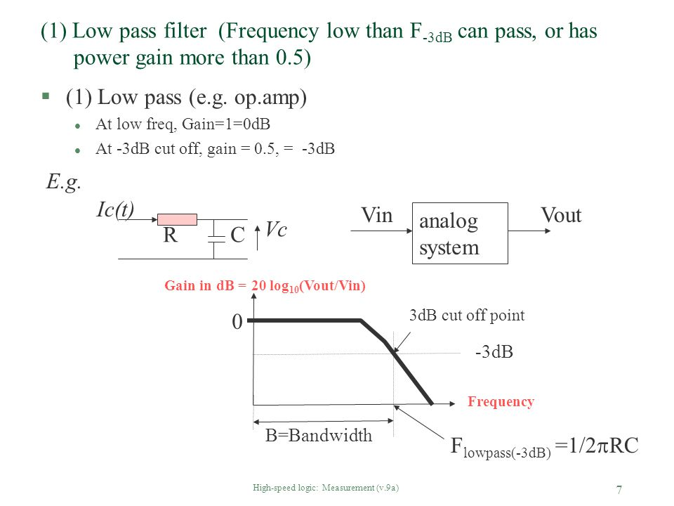 High-speed logic: Measurement (v.9a) 18 §Impact: probe having ground wires, when using to view very fast signals from low-impedance source, will display artificial ringing and overshoot.
