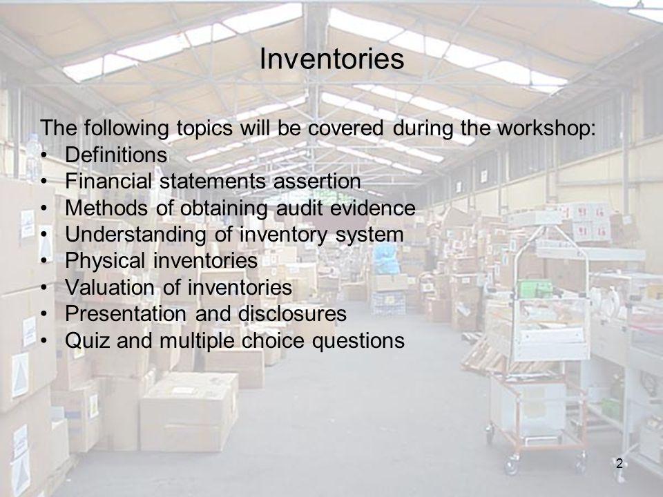 13 Audit procedures during stock take