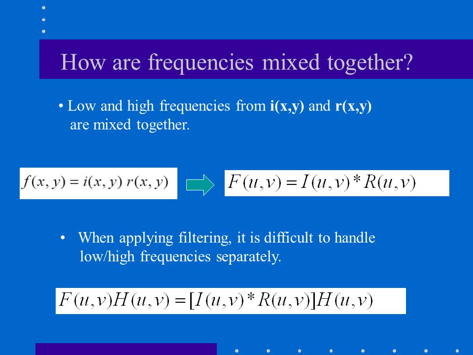 How are frequencies mixed together.