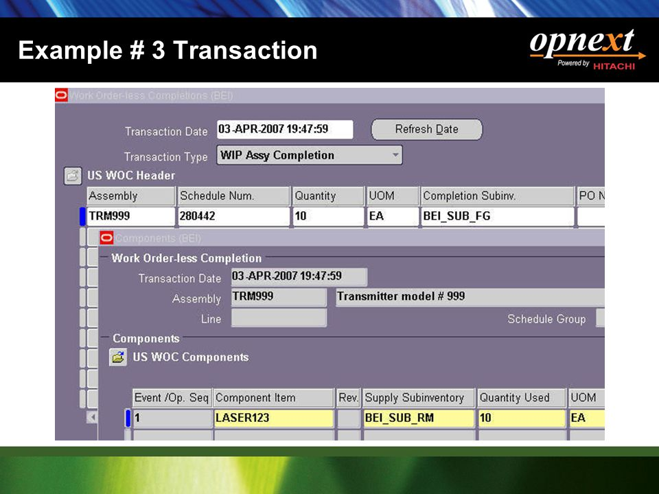 Example # 3 Transaction