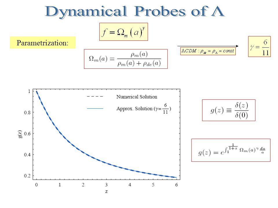 Parametrization: