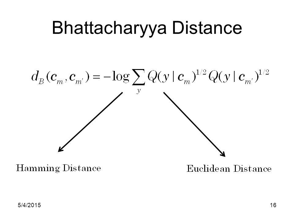 Bhattacharyya Distance 5/4/201516