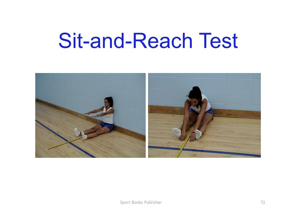 Sport Books Publisher72 Sit-and-Reach Test
