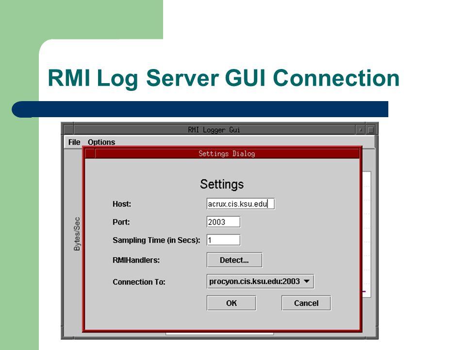 RMI Log Server GUI Connection