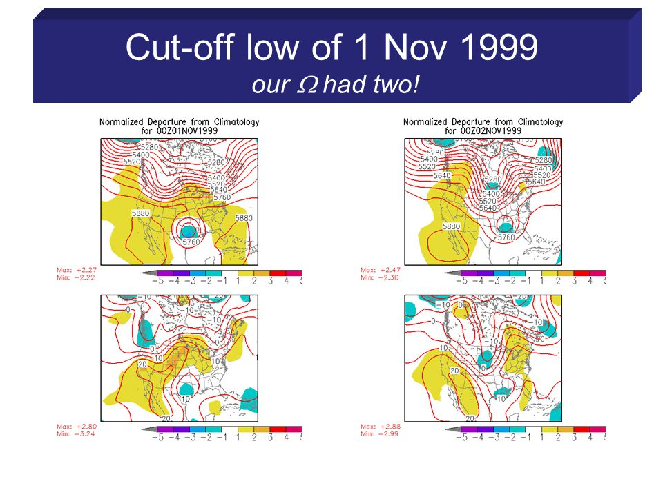 Cut-off low of 1 Nov 1999 our  had two!