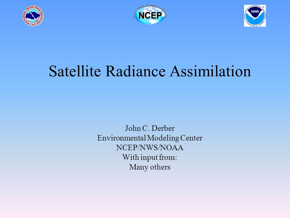 Satellite data Key to using data is to have good characterization of K – forward model.